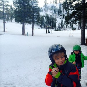 Ben and Ryan playing in the snow at Alpine Meadows.